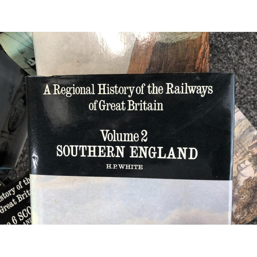 51 - Volume 1-16 'A regional history of the railways of Great Britain' book collection...