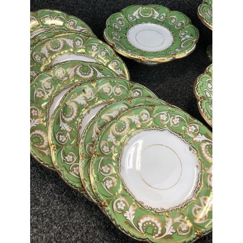 35 - Davenport ceramics, 3 cake stands and 8 plates