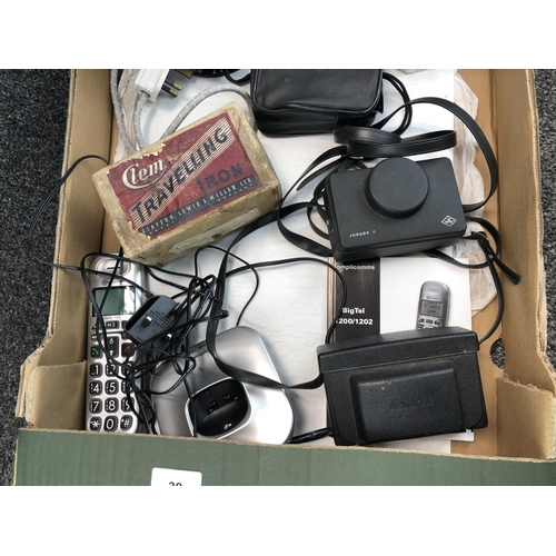 39 - Collection of miscellaneous goods to include coffee pots, cameras, Iron etc....