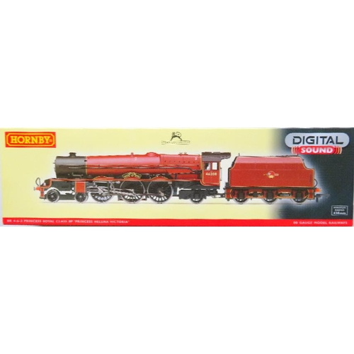 "HORNBY (China) 00 gauge R2990XS Princess Royal Class 4-6-2 ""Princess Helena Victoria"" Loco and Tender No. 46208 BR lined maroon late crest with factory fitted DCC and Sound. Near Mint in Near Mint Box and Outer Sleeve"