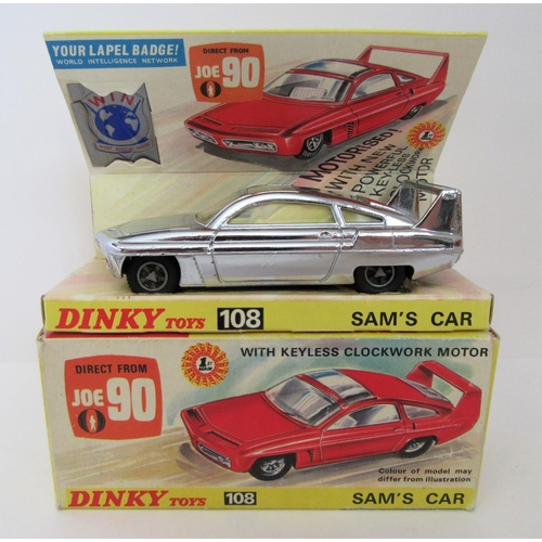 DINKY TOYS 108 Sam's Car in chrome. Excellent Plus in a Good Plus Box.