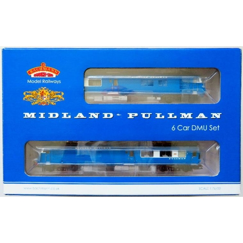 """BACHMANN 00 gauge 31-255DC DCC on Board """"Midland Pullman 6-Car Unit"""", Nanking blue, appears unused. Near Mint in Near Mint individual Boxes with Excellent Outer Presentation Sleeve"""