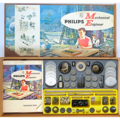 107 - PHILIPS MECHANICAL ENGINEERS SET ME1200, few parts missing, otherwise generally Excellent, includes ...