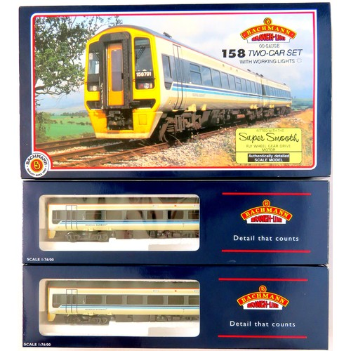 """141 - BACHMANN 00 gauge 31-50013 Class 158 2-Car DMU Set """"Regional Railways"""" with working lights. Excellen..."""