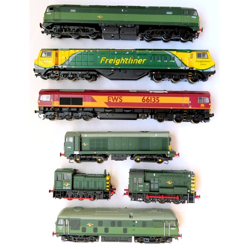 142 - BACHMANN 00 gauge Diesel Locos comprising: Class 70 No. 70006 Freightliner green/yellow, Class 66 No...
