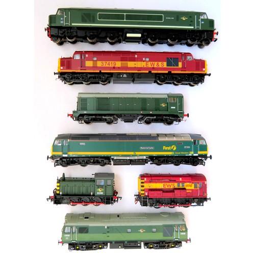 "143 - BACHMANN 00 gauge Diesel Locos comprising: Class 44 No. D1 ""Scafell Pike"" BR green, Class 37 No. 374..."