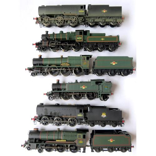 153 - HORNBY / MAINLINE 00 gauge BR Steam Locos comprising: Hornby 0-6-0 Loco and Tender No. 33009 black l...