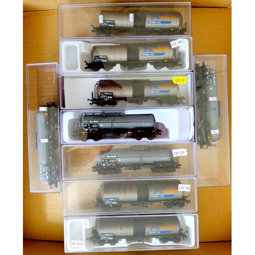 168 - ELECTROGEN HO/00 gauge Rolling Stock   comprising: A group of 9 x Bogie Tank Wagons (4 x E5489K Phos...