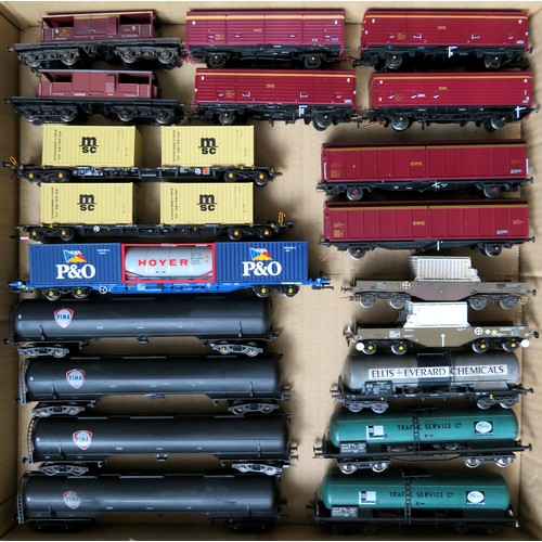 180 - BACHMANN / LIMA  plus other manufacturers 00 gauge Rolling Stock comprising: Assorted Goods Wagons t...