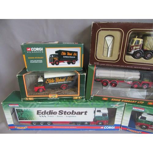 191 - CORGI 1:50TH 'EDDIE STOBART' Trucks to include CC14002 Volvo FH Curtainside, CC13801 Mercedes Benz A...