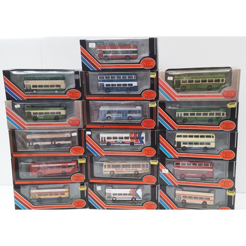262 - EFE BUSES AND COACHES to include 20415 BRISTOL VR111 BLUE BUS. Mint in Excellent to Mint Boxes (16)...