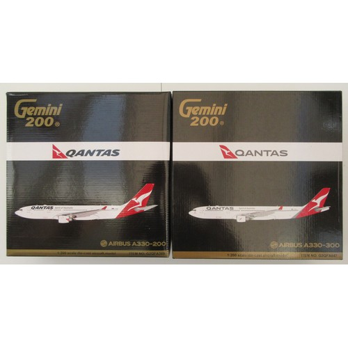 2 - GEMINI '200' AIRCRAFT 1:200th scale Airbus A330-200 (model has some paint chips around the base of t...
