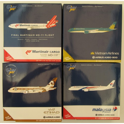 "7 - GEMINI JETS 1:400TH scale Aircraft to include Airbus A380 ""Etihad Airways"", Airbus A350-900 ""Malaysi..."