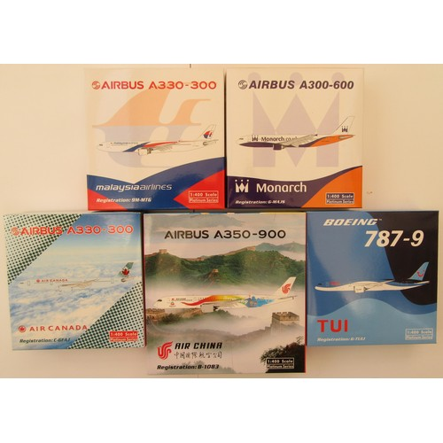 "14 - LIMITED EDITION 1:400TH scale Aircraft to include Airbus A330-300 ""Malaysia Airlines"", Airbus A300-6..."