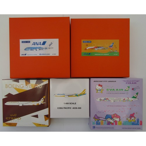 """17 - JC WINGS 1:400TH scale Aircraft to include Airbus A380 """"ANA – Inspiration of Japan"""", Boeing 777-200E..."""