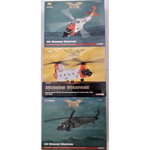 290 - CORGI AVIATION ARCHIVE 1:72 scale to include UH-60a Blackhawk Double Vission, Boeing Vertol YC-47a C...