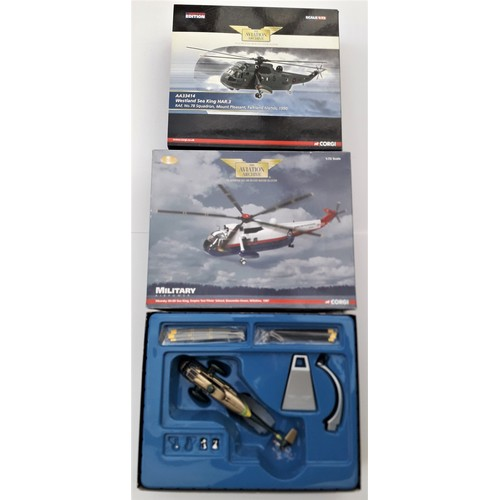 291 - CORGI AVIATION ARCHIVE 1:72 scale to include Sikorsky SH-3d Sea King, Westland Sea King HAR3 and Sik...