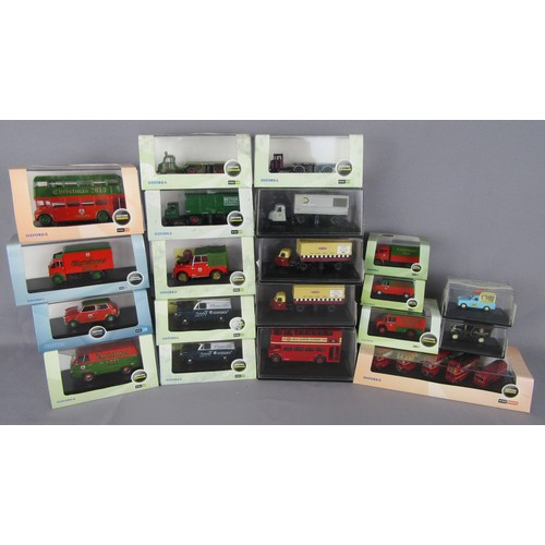 293 - OXFORD COMMERCIALS 1:76TH & 1:43rd Scale to include Christmas and club models. Mint in Excellent to ...