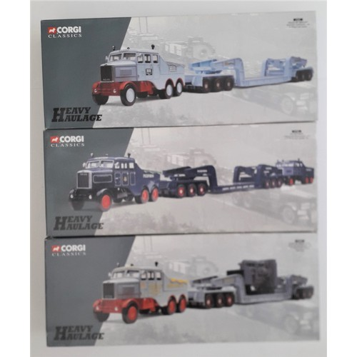 77 - CORGI CLASSICS HEAVY HAULAGE to include 17701 Scammell Contractor set 'Pickfords', 17601 Scammel Con...