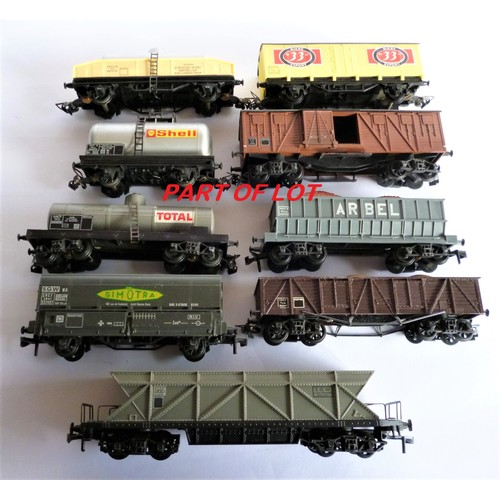 61 - HORNBY ACHO Goods Wagons, Simotra Hoppers x3, Milk Tankers x2, Arbel Bogie Hoppers (with loads) x2, ...