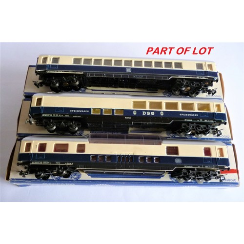 62 - HORNBY ACHO Rheingold Coaches, 7444, 7446, 7448, 7450 x2. Excellent to Near Mint in Good to Excellen...