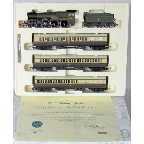 """2 - HORNBY (China) 00 gauge R2600M (DCC Ready) """"The Cheltenham Flyer"""" Train Pack containing: Castle Clas..."""