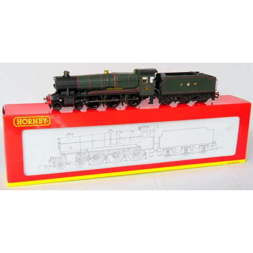 """10 - HORNBY (China) 00 gauge R2391 County Class 4-6-0 """"County of Carnarvon"""" Loco and Tender No. 1010 GWR ..."""