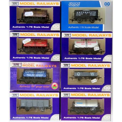 19 - DAPOL 00 gauge Goods Wagons comprising: 5 x 6-wheel Tankers (B697 Express Dairy, B644 West Park, B62...