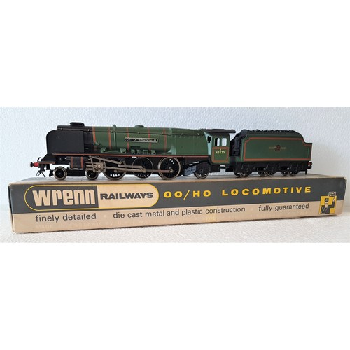 23 - WRENN '00' W2228 4-6-2 Loco & Tender, BR Green No.46235 'City of Birmingham', some detailing & coal ...