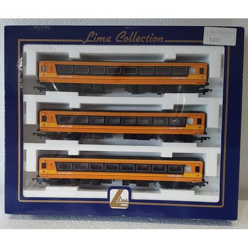 53 - LIMA L149439 IE Mk2 Coach Pack, comprising Mk2 Open Coaches x3, Inter-City Orange/Black livery. Mint...