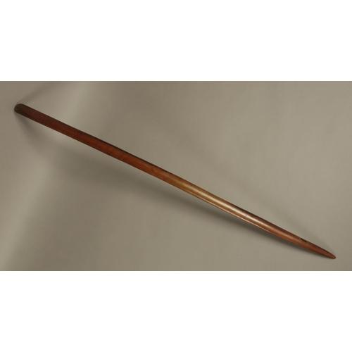 AN ENGLISH CIVIL WAR SWORD, plain button, brass pommel, loop guard