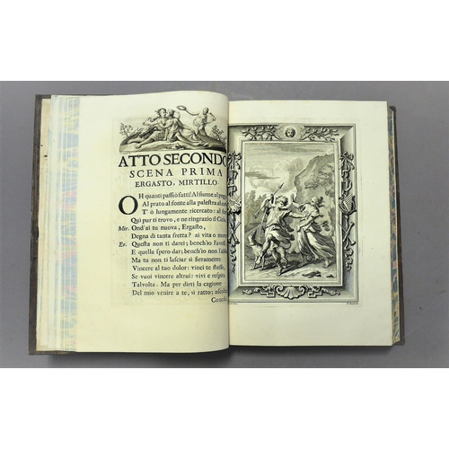 39 - Guarini (Battista), Opere, 4 vol., additional engraved titles, vignettes to title and throughout, co...
