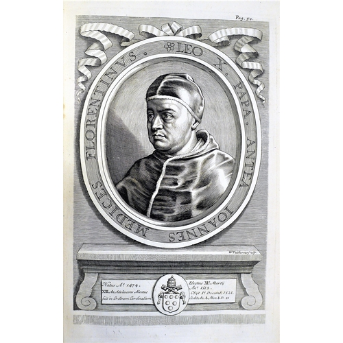 45 - Sleidan (John), The General History of the Reformation.., 6 engraved portraits, title in red and bla...