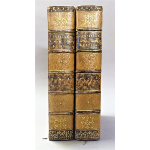 48 - Campbell (John), A Political Survey of Great Britain…, 2 vol., half-titles, contemporary diced calf,...