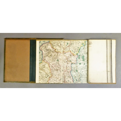13 - Lewis (Samuel), A MAP OF ENGLAND AND WALES�, 4 sheets, hand-coloured folding engraved maps, linen-ba...