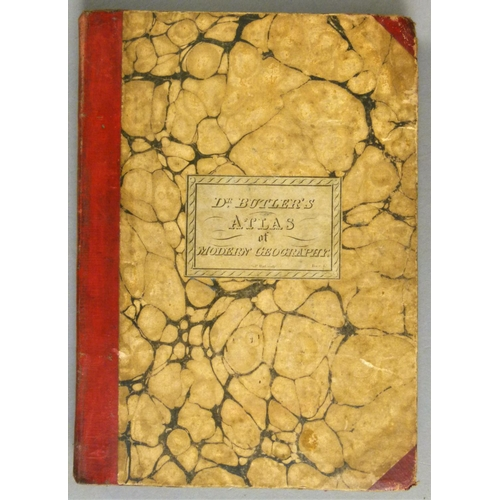 14 - Butler (Samuel), AN ATLAS OF MODERN GEOGRAPHY, 1 folding and 22 double-page maps, hand-coloured in o...