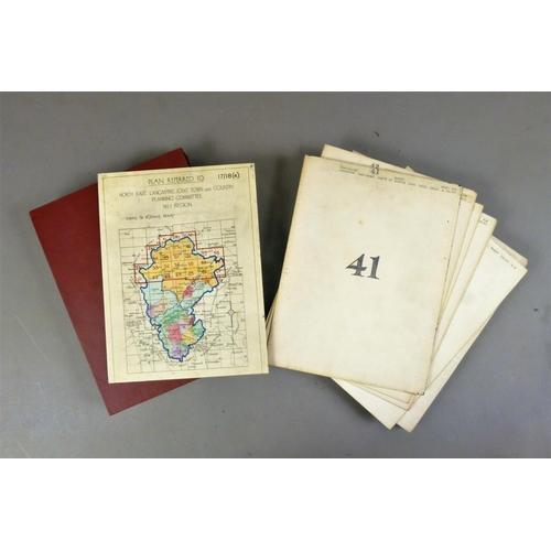 15 - Ordnance Survey, 6'' SERIES EAST LANCASHIRE, 30 folding linen-backed maps, hand-coloured in outline,...