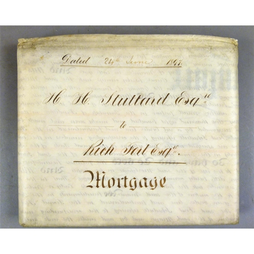 21 - .- MORTGAGES, CONVEYANCES AND INDENTURES RELATING TO THE PURCHASE OF A COTTON MILL AND A MANOR HOUSE...