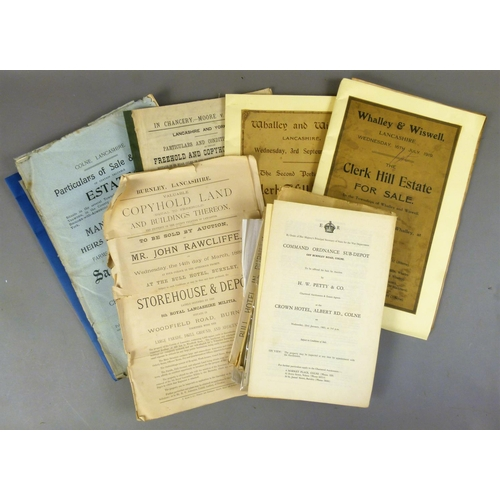 22 - AUCTION CATALOGUES PERTAINING TO THE SALE OF ESTATES AND GOODS AND CHATTELS, 1920s-1960s, v.d. (c.15...