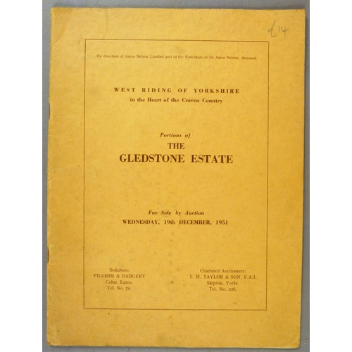 23 - AUCTION CATALOGUES PERTAINING TO THE SALE OF ESTATES AND GOODS AND CHATTELS, 1920s-1960s, v.d. (c.15...