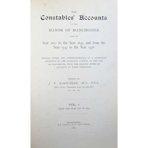 35 - .- THE COURT LEET RECORDS OF THE MANOR OF MANCHESTER FROM THE YEAR 1552 TO�THE YEAR 1846, 12 vol., 1...