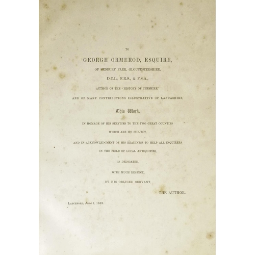 36 - Beaumont (William, ed.), DOMESDAY BOOK RELATING TO CHESHIRE AND LANCASHIRE, 2 vol., facsimile editio...