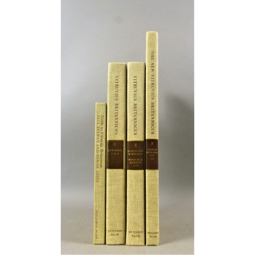 4 - Campbell (Colin), VITRUVIUS BRITANNICUS OR THE BRITISH ARCHITECT, 4 vol., publisher's cloth, 4to & f...