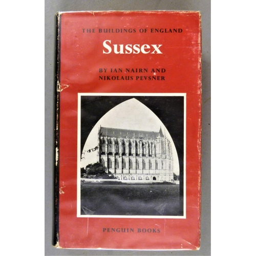 41 - Pevesner Guides.- Hampshire, 1967; .- Sussex, 1970, dust-jackets; .- Buckinghamshire, 1987; .- North...