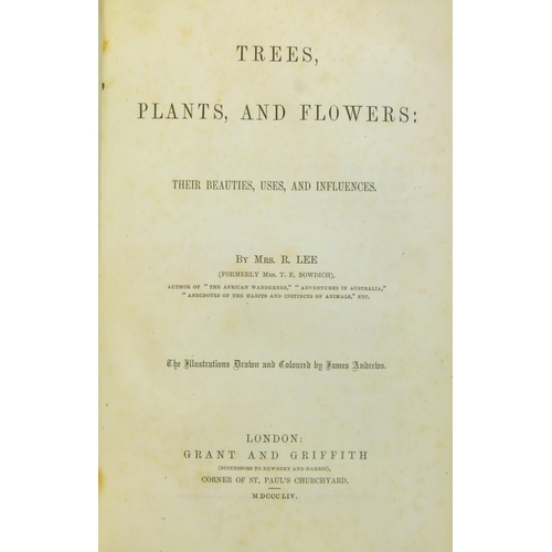 59 - Lee (Sarah), TREES, PLANTS AND FLOWERS�, 8 hand-coloured engraved plates, tissue-guards, ink ownersh...