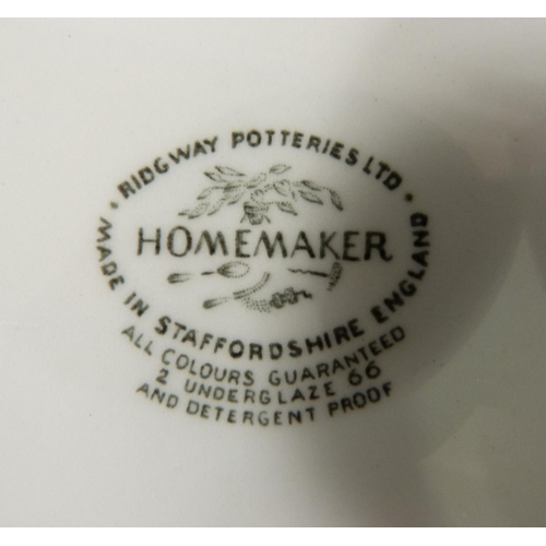 33 - Enid Seeney for Ridgeway Potteries Ltd ten 'Homemaker' plates including, four x 25.5cm; one x 23cm; ...
