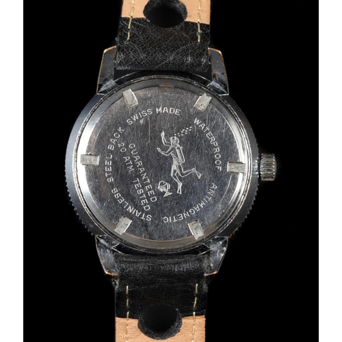 12 - An Ostara gentleman's 20 ATM diver's stainless steel wristwatch c.1965, manual 17 jewel lever moveme...