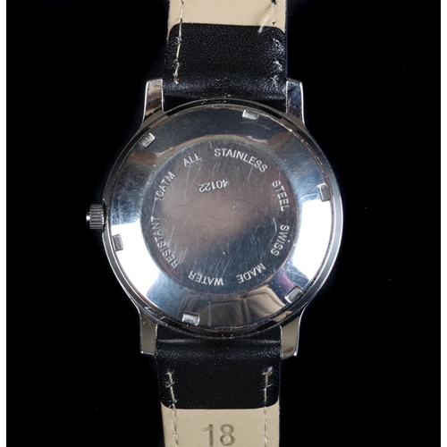 13 - A Le Cheminant gentleman's 1822 stainless steel wristwatch, c.1980, automatic jewel lever movement, ...
