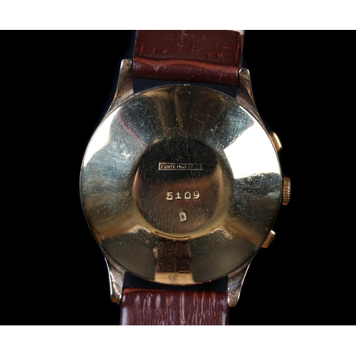 19 - An Actua Geneve gentleman's gold plated chronograph wristwatch, c.1960, manual 17 jewel lever moveme...
