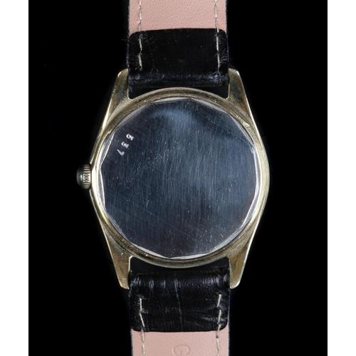 34 - A Baume gentleman's rolled gold wristwatch c.1965, manual, jewel lever movement, silvered sunburst d...